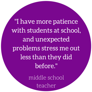 I have more patience with students at